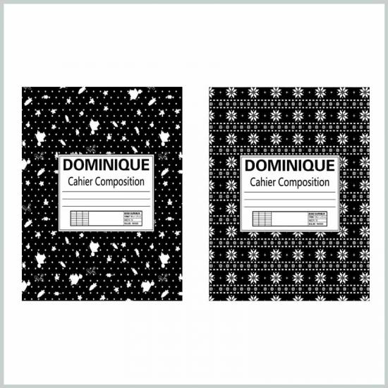 Black and white composition notebook