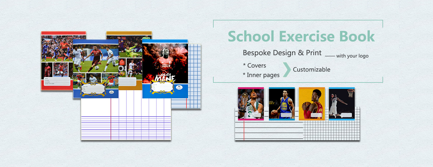 Student exercise book notebook school